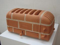 Brick Sculpture of a Toaster,