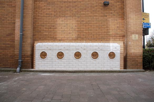 Brick Sculpture, Brick Relief, Glazed Brick Relief